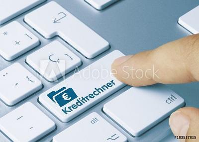 Hier geht es zum Online - Kreditrechner